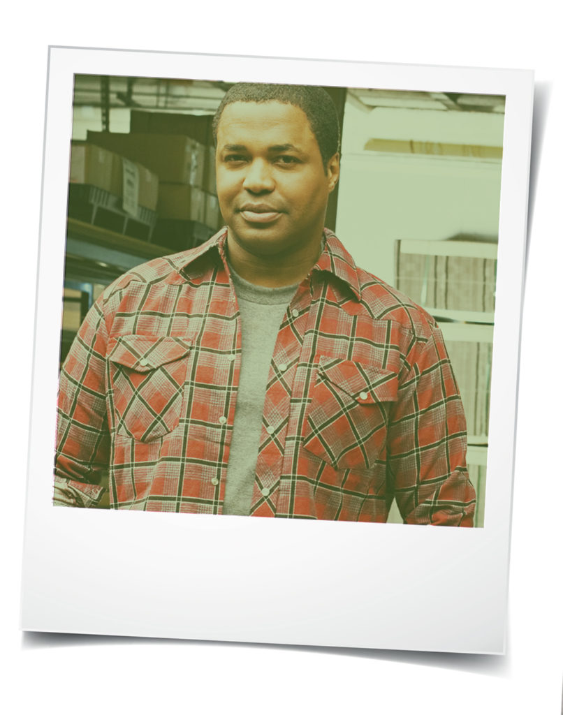 Polaroid-style photo of young black man