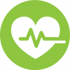 Icon of heart depicting health